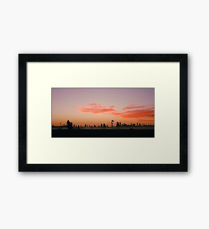 Florida Wilderness Sunrise Framed Print