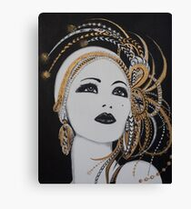 ART DECO GOLD BEAUTY Canvas Print