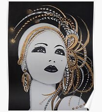 ART DECO GOLD BEAUTY Poster