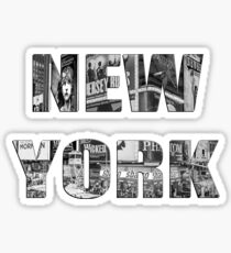 New York (B&W lettering) Sticker