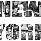 New York (B&W lettering) by Ray Warren
