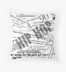 Lyrics Floor Pillow