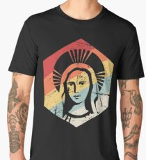 Retro 70s Catholic Virgin Mary Icon Men's Premium T-Shirt