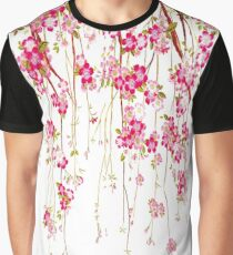Flower Drops Pink  Graphic T-Shirt