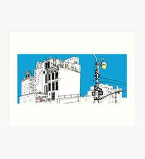 A Blue Day In New York Art Print