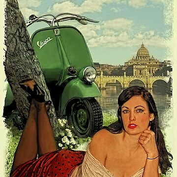 Vespa Pin Up Girl by utherpen