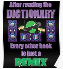 Funny Bookworm Reading cool cute lit book lover artbyjfg Poster