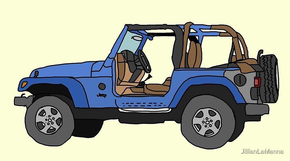 Line Drawing Jeep : Quot jeep line drawing by jillianlamanna redbubble