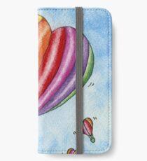 Rainbow Heart Hot Air Balloon iPhone Wallet/Case/Skin