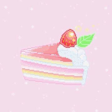 Green Pixel Strawberry Shortcake by Going-Kokoshop