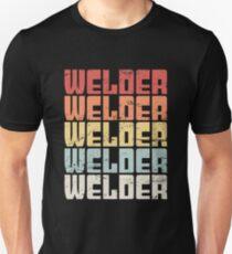Retro 70s WELDER Text T-Shirt