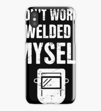 Funny Welding Design - With Welder Mask iPhone Case/Skin