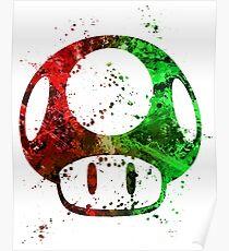 Super Mario Splatter Poster
