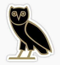 OVO Owl Black in Gold Sticker