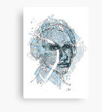 Basel Citymap Artwork | BLUEFACE Leinwanddruck