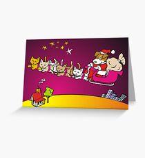 jack russell santa Greeting Card