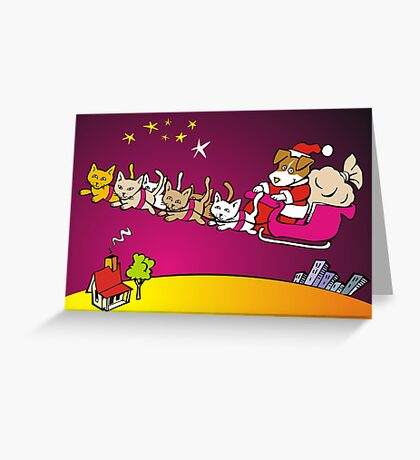 jack russell santa Greeting Card