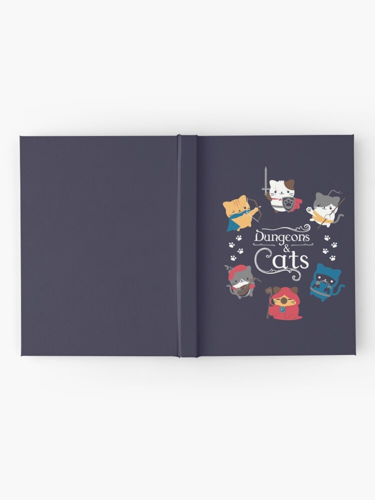 Alternate view of Dungeons and Cats Hardcover Journal