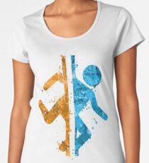 Portal Splatter Women's Premium T-Shirt