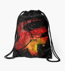 Street Fighter Splatter Drawstring Bag
