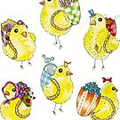 Easter Chicks & Eggshell Baskets by Hajra Meeks