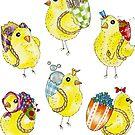 Easter Chicks & Eggshell Baskets by HAJRA MEEKS