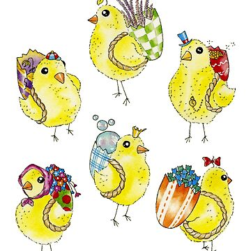 Easter Chicks & Eggshell Baskets by HajraMeeks