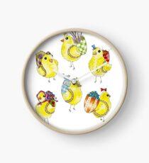 Easter Chicks & Eggshell Baskets Clock