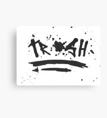 Trash Brush Canvas Print