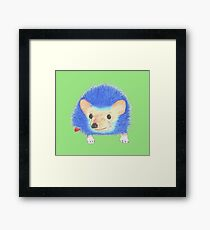 Sonic the hand-drawn hedgehog Framed Print