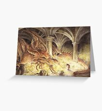Bilbo and Smaug the Dragon Greeting Card
