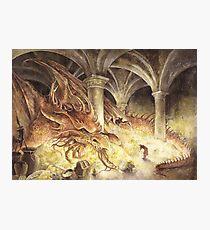 Bilbo and Smaug the Dragon Photographic Print