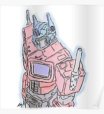 Optimus Prime (Pastel Prime) Poster