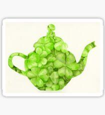 Botanical Clover Teapot Sticker