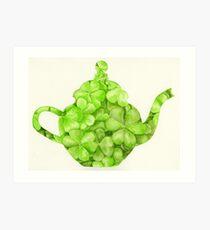 Botanical Clover Teapot Art Print