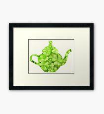Botanical Clover Teapot Framed Print