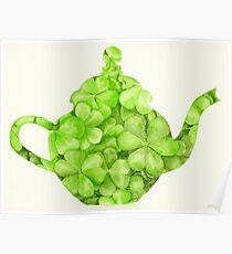 Botanical Clover Teapot Poster