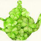 Botanical Clover Teapot by HAJRA MEEKS