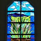 Front Window of Drouin Anglican Christ Church, Gippsland Australia by Bev Pascoe
