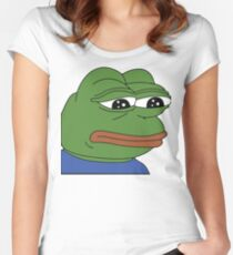 SAD PEPE Women's Fitted Scoop T-Shirt