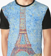 Impressionist Eiffel Tower Graphic T-Shirt