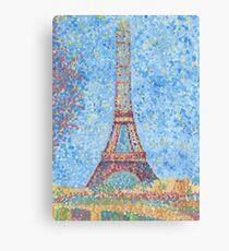 Impressionist Eiffel Tower Canvas Print