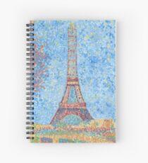 Impressionist Eiffel Tower Spiral Notebook