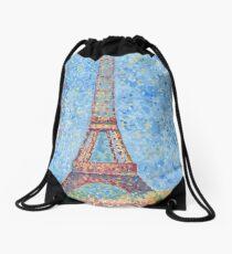 Impressionist Eiffel Tower Drawstring Bag