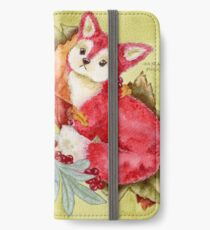 Fancy Fall Fox & Leaves iPhone Wallet/Case/Skin