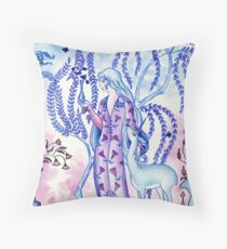Lady & Last Unicorn Throw Pillow