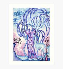 Lady & Last Unicorn Art Print