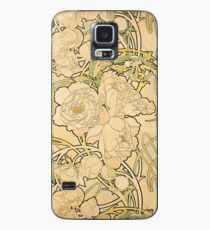 'Peonies' by Alphonse Mucha (Reproduction) Case/Skin for Samsung Galaxy