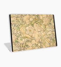'Peonies' by Alphonse Mucha (Reproduction) Laptop Skin