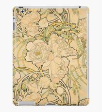 'Peonies' by Alphonse Mucha (Reproduction) iPad Case/Skin